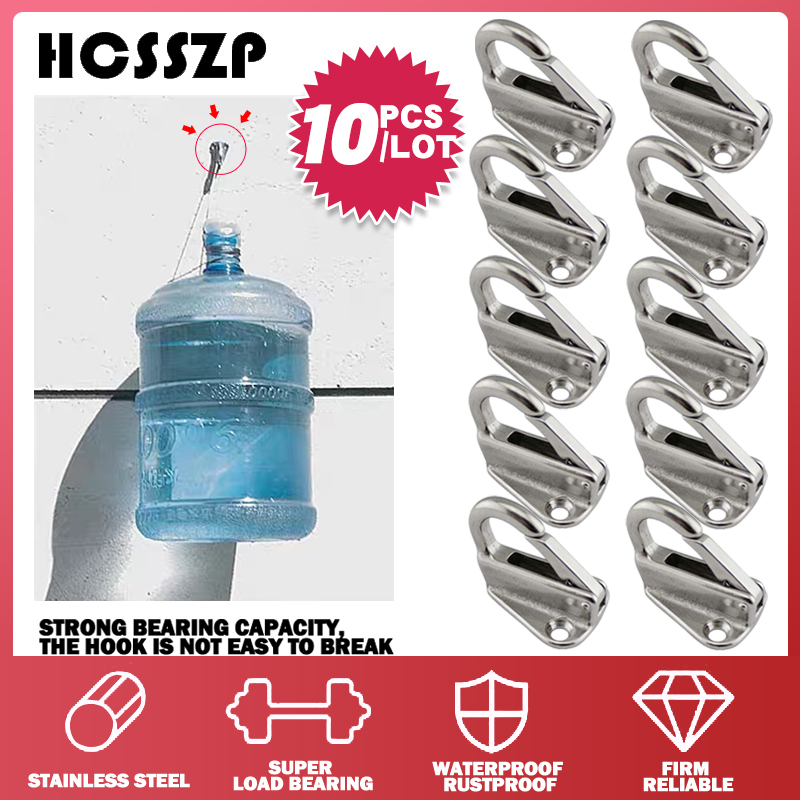 10 Pcs/lot Stainless Steel 316 Spring Locked Fender Hook Snaps Fending Hook Attach Rope Boat Sail Tug Ship Marine Hardware-in Marine Hardware from Automobiles & Motorcycles