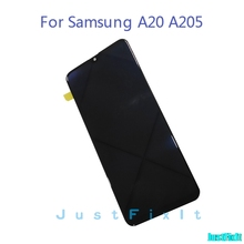 100% Original  For Samsung Galaxy A20 A205G/DS A205F/DS A205GN/DS SM-A205FN/DS Lcd Display Touch Screen Digitizer Assembly