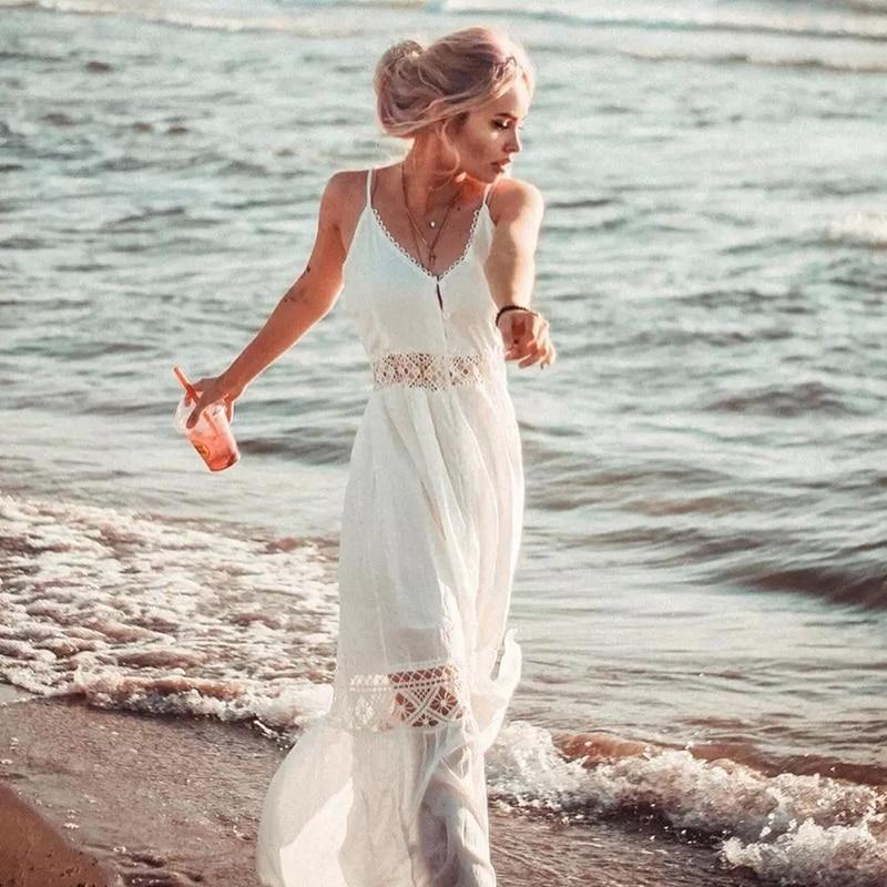 Crochet White Knitted Beach Cover up dress Tunic Long Pareos Bikinis Cover ups Swim Cover up Robe Plage Beachwear 17