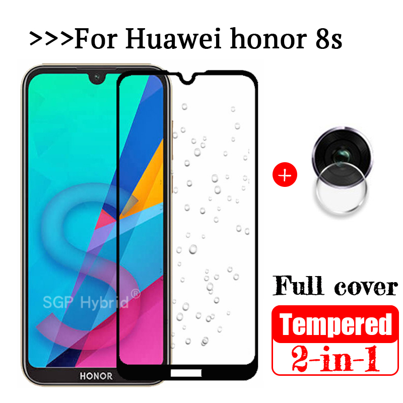 2-in-1 3D Full Cover Tempered Glas For Huawei Honor 8S Screen Protector Safety Camera Protective Glass On Honor 8S 8 Honor8 S S8