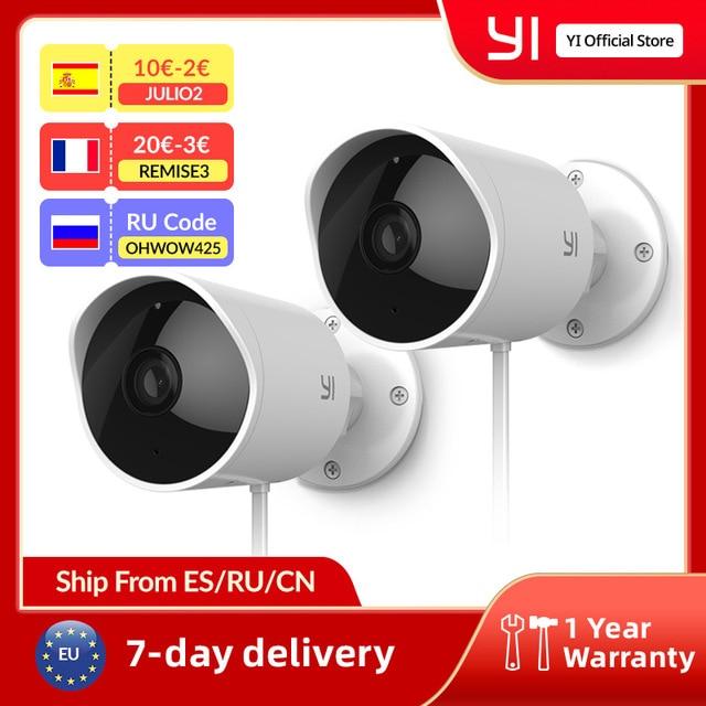 YI Outdoor Camera surveillance camera IP-65 Water-Resistant Housing Cam Night Vision Human Detection Security Camera 1