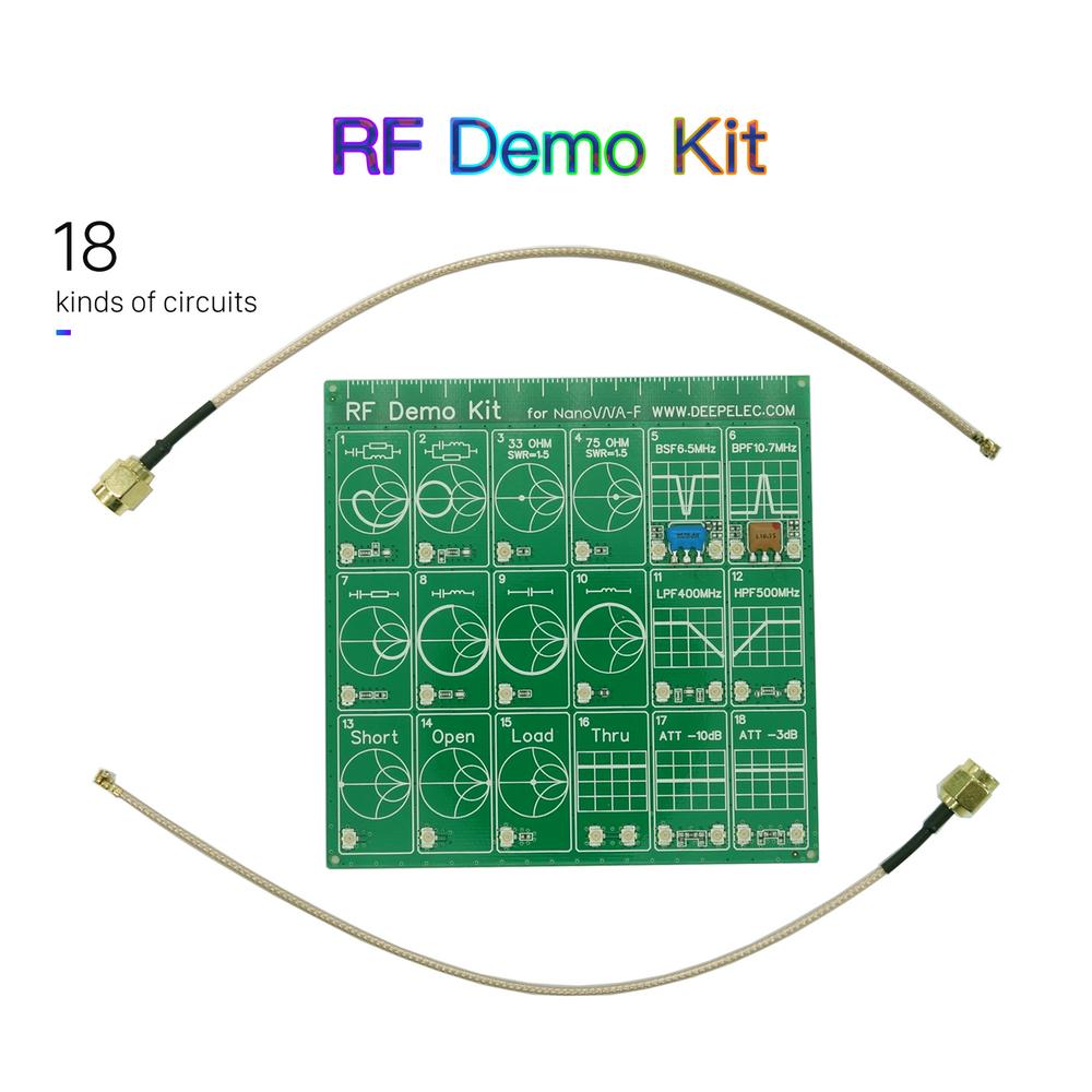RF デモキット NanoVNA RF テスターボードフィルター減衰器 NanoVNA-F をベクトルネットワークアナライザ