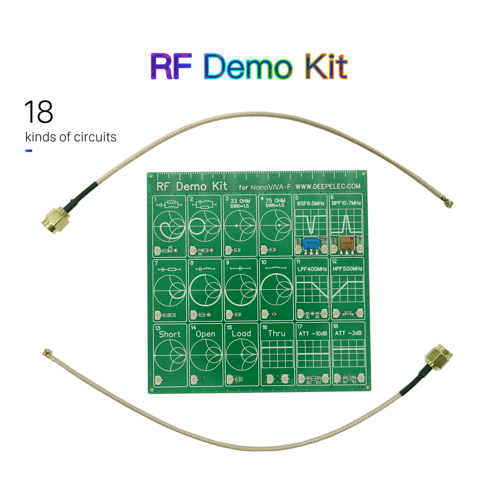 RF Demo Kit NanoVNA RF Tester Board Filter Attenuator For NanoVNA-F Vector Network Analyzer