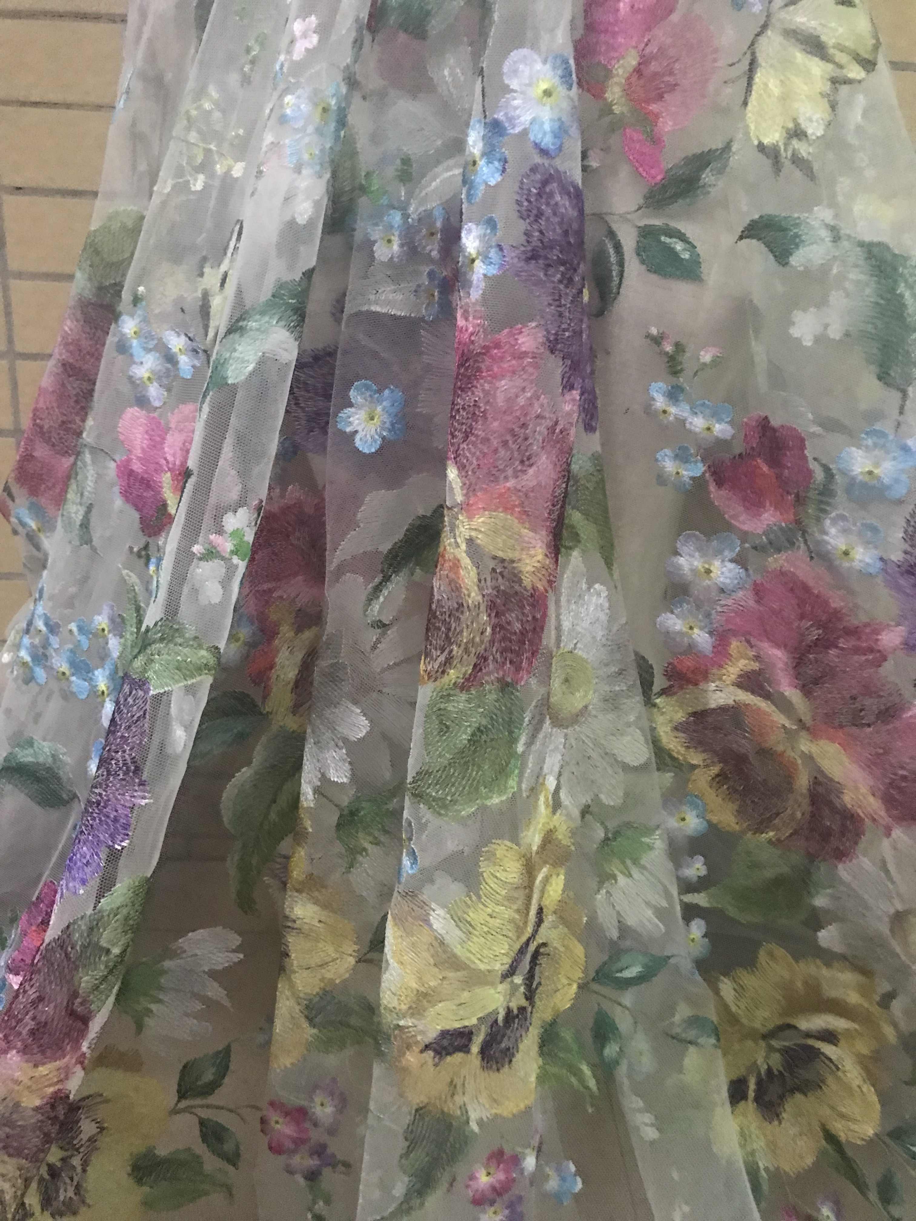 Tela de encaje de cordón bordado para vestido de novia SYJ-328819 encaje de red francés nigeriano