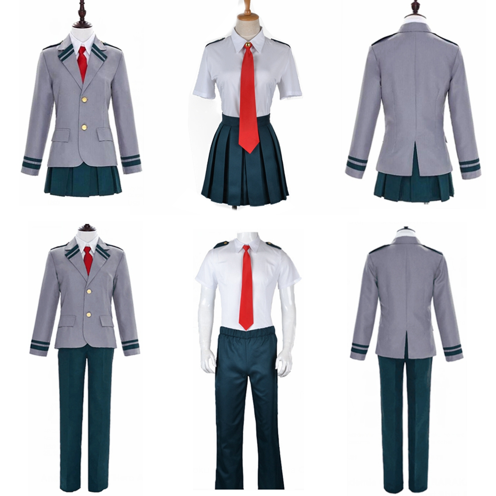 4PCS/Set Boku No Hero Academia Midoriya Izuku Bakugou Katsuki OCHACO URARAKA School Uniform My Hero Academia Cosplay Costumes