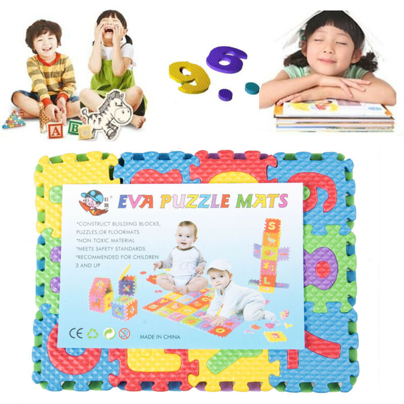 36PCS Baby Kids Number Alphanumeric Puzzle Foam Mats Soft Toy Gift DIY Cute Kids Educational Playing Floor Mat