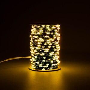 Image 2 - Cable verde 1000 luces de cadena LED 100m luces navideñas al aire libre guirnalda de árbol impermeable decoración de vacaciones de Navidad