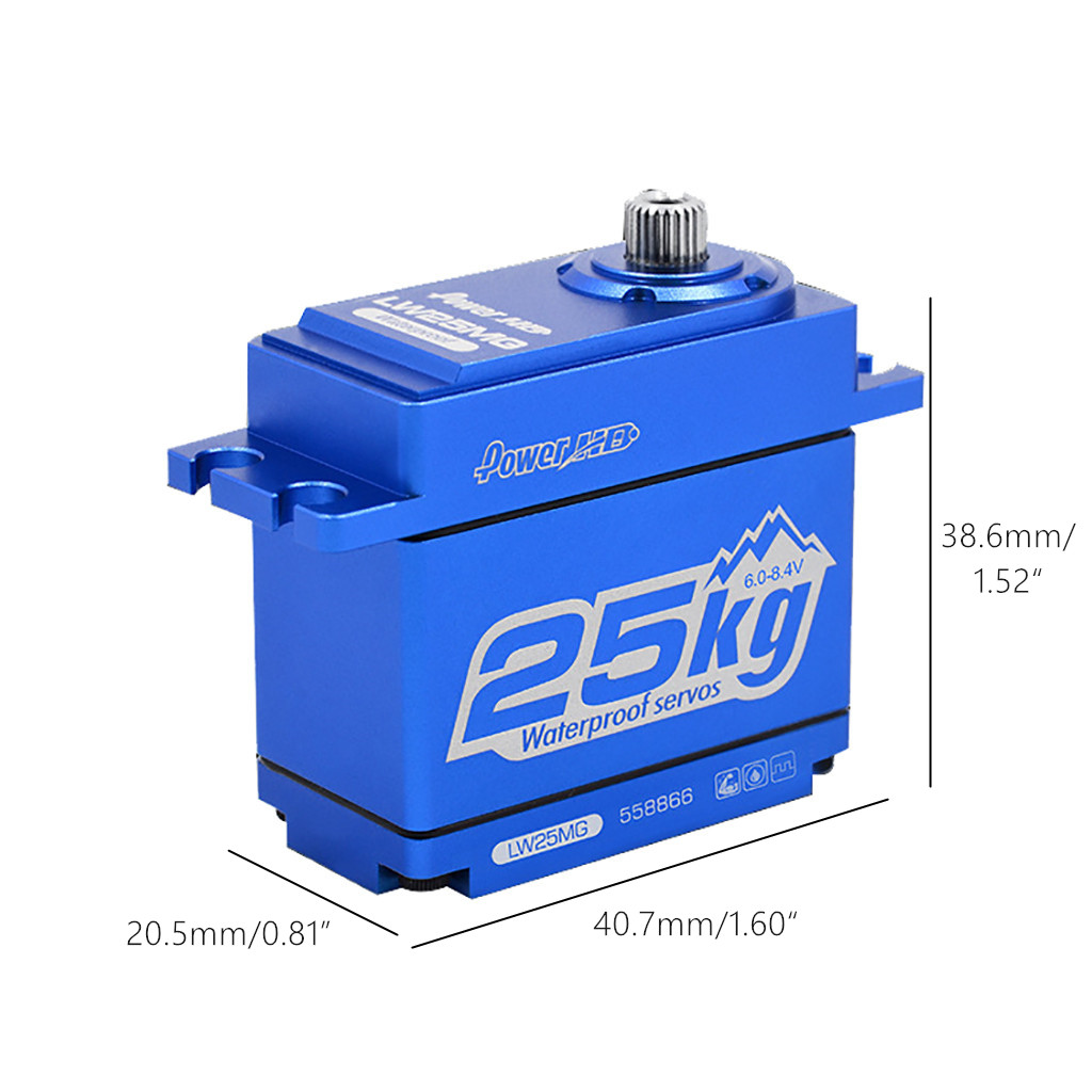 Power HD LW-25MG 25KG/0.14S Waterproof High Torque Metal Gear Standard Digital Servo for 1/8 <font><b>1/10</b></font> Scale RC Cars <font><b>Accessories</b></font> image