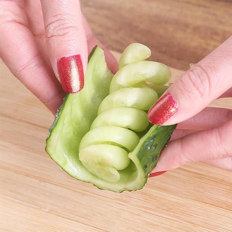 野菜スパイラルナイフ彫刻ツールスライサーのためのポテトニンジンキュウリ saladstainless 鋼チョッパースパイラルスクリュースライサーカッター