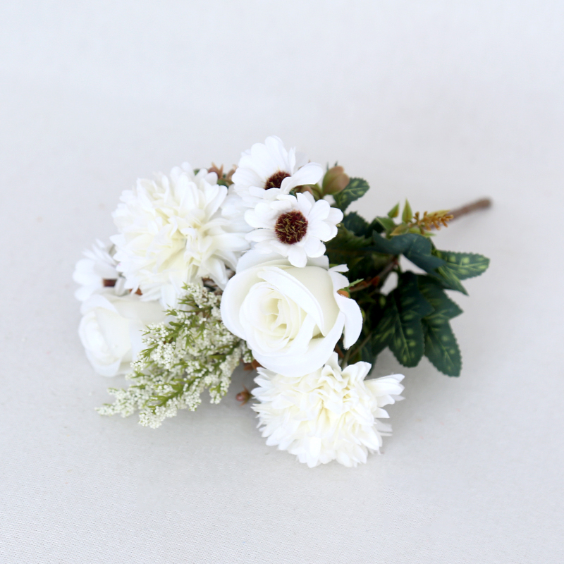 White Artificial Bouquet Fake Flower High Simulation Flower Decorative Flowers For Photography Props Home Decoration
