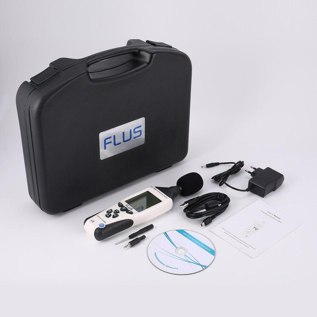 Medidor de nivel de sonido Digital FLUS ET-958 probador de ruido registrador de decibelios medición Detector de Audio Monitor de volumen 30-130dB de mano