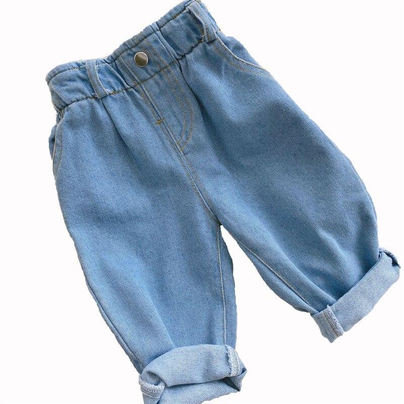 Новые джинсы осень зима 2020 Одежда для маленьких девочек одежда для маленьких мальчиков однотонные теплые джинсы с высокой талией детская одежда|Джинсы| | АлиЭкспресс