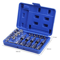 29 PCS Bit Tools Set Torx Star Socket Set & Bit Male Female E & T Sockets