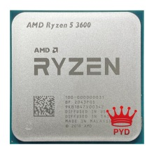 Processore CPU AMD Ryzen 5 3600 R5 3600 3.6 GHz a sei Core a dodici Thread 7NM 65W L3 = 32M 100-000000031 Socket AM4