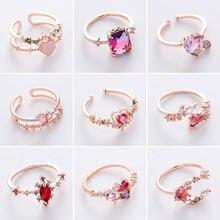 Корейское стильное Новое разнообразное циркониевое кольцо с