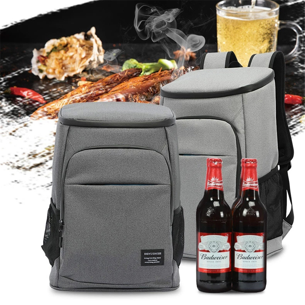 30L Outing Cooler Bag Thermal Insulated Backpack for Beer Drink Food Picnic Storage Waterproof Oxford Portable Mini Refrigerator image