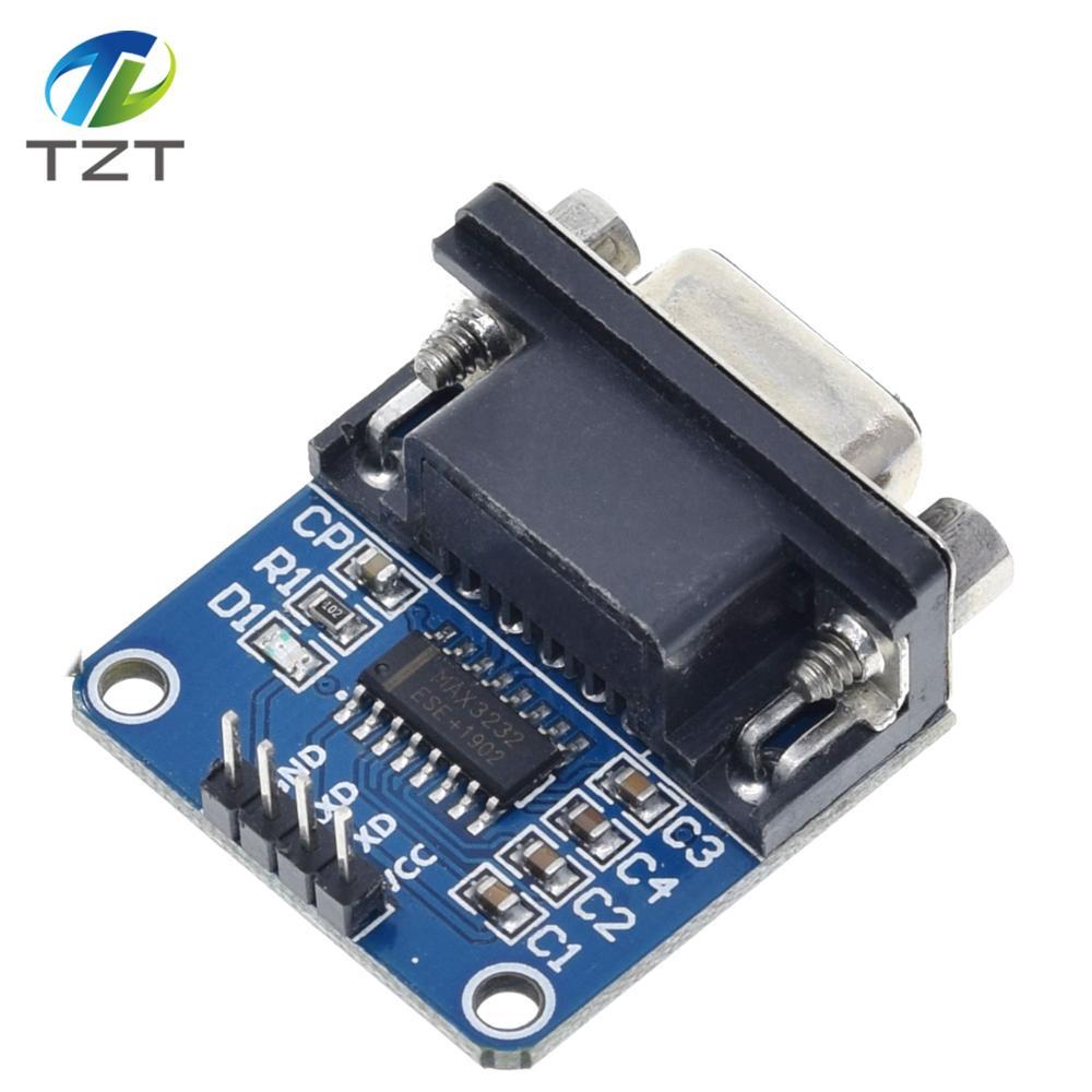 10 pçs/lote MAX3232 RS232 para Módulo Conversor TTL Porta Serial Conector DB9 MAX232