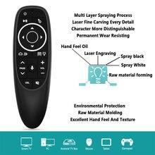Kebidu-ratón de aire G10S Pro retroiluminado, Control remoto inteligente por voz, sensor giroscópico inalámbrico, aprendizaje IR para PC, Android TV Box