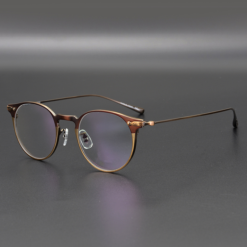 Shawfield Titanium Glasses Glasses Frame Men OV1181 Retro Frame Brand Eyewear Eye Glasses Frames For Women Round Glasses