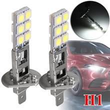 2 pçs h1 lâmpada led super brilhante 55w 5050 luzes de nevoeiro 12v 6000k branco dia condução correndo lâmpada do farol do carro lâmpadas