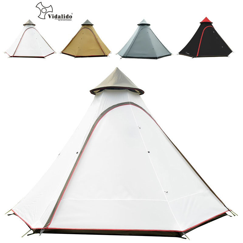 Camping Tent Ultra-large Double Layer Outdoor Living Rooms 8-12 Persons Family