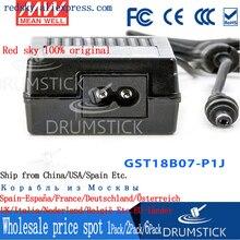 цена на Selling Hot! MEAN WELL original GST18B09-P1J 9V 2A meanwell GST18B 9V 18W AC-DC High Reliability Industrial Adaptor