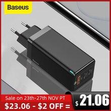Baseus 65W GaN 충전기 샤오미 노트북용, 빠른 충전 4.0 3.0 유형 C PD USB 충전기 QC 4.0 3.0 휴대용 고속 충전기