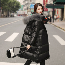 цена на 90% White Duck 2019 Down Jackets Girls Winter Jacket Thick Long Coat for Women Hooded Down Parka Waterproof Women's Coat Clothes
