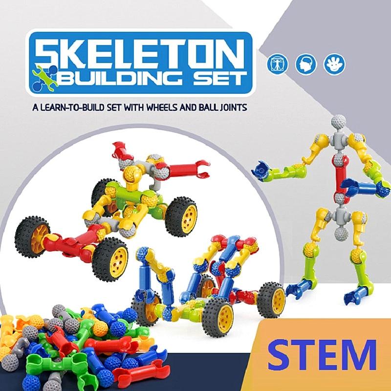 Конструктор-скелет «сделай сам», креативная модель в сборе, детские игрушки, развивающие строительные блоки, Обучающие игрушки, подарки