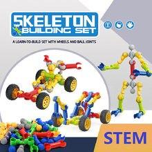 Esqueleto blocos de construção conjunto diy modelo criativo conjunto tijolo crianças brinquedos educativos blocos de construção caule brinquedos educativos presentes