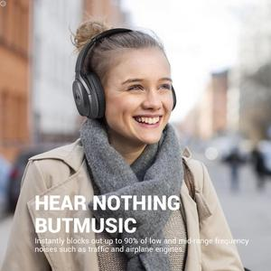 Image 3 - EKSA E5 Bluetooth 5.0 Headphones 920mAh Active Noise Cancelling headphone Wireless Headset With Mic For Phones Foldable Over Ear