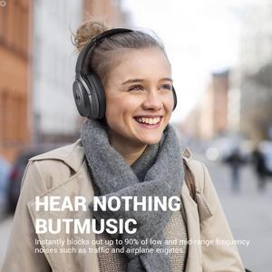 Image 3 - EKSA E5 Bluetooth 5.0 cuffie Wireless 920mAh cuffie con cancellazione attiva del rumore cuffie Over Ear pieghevoli con microfono per telefoni