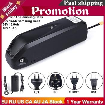 Akumulator elektryczny eBike Hailong Samsung 18650 komórek pakiet 52V 14Ah 48V 36V 12Ah 15 6Ah 17 5Ah potężny rower bateria litowa tanie i dobre opinie CN (pochodzenie) 21-30ah 48 v 12Ah 13Ah 15 6Ah 17 5Ah 19 2Ah 4 1kg 4 4kg 4 1KG 367 2*90 1*111mm 54 6V CC CV 1000 times XT60