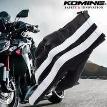 Для KOMINE инновации безопасности Классические черные винтажные кожаные перчатки мотоциклетные защитные перчатки сенсорный экран полный палец XL
