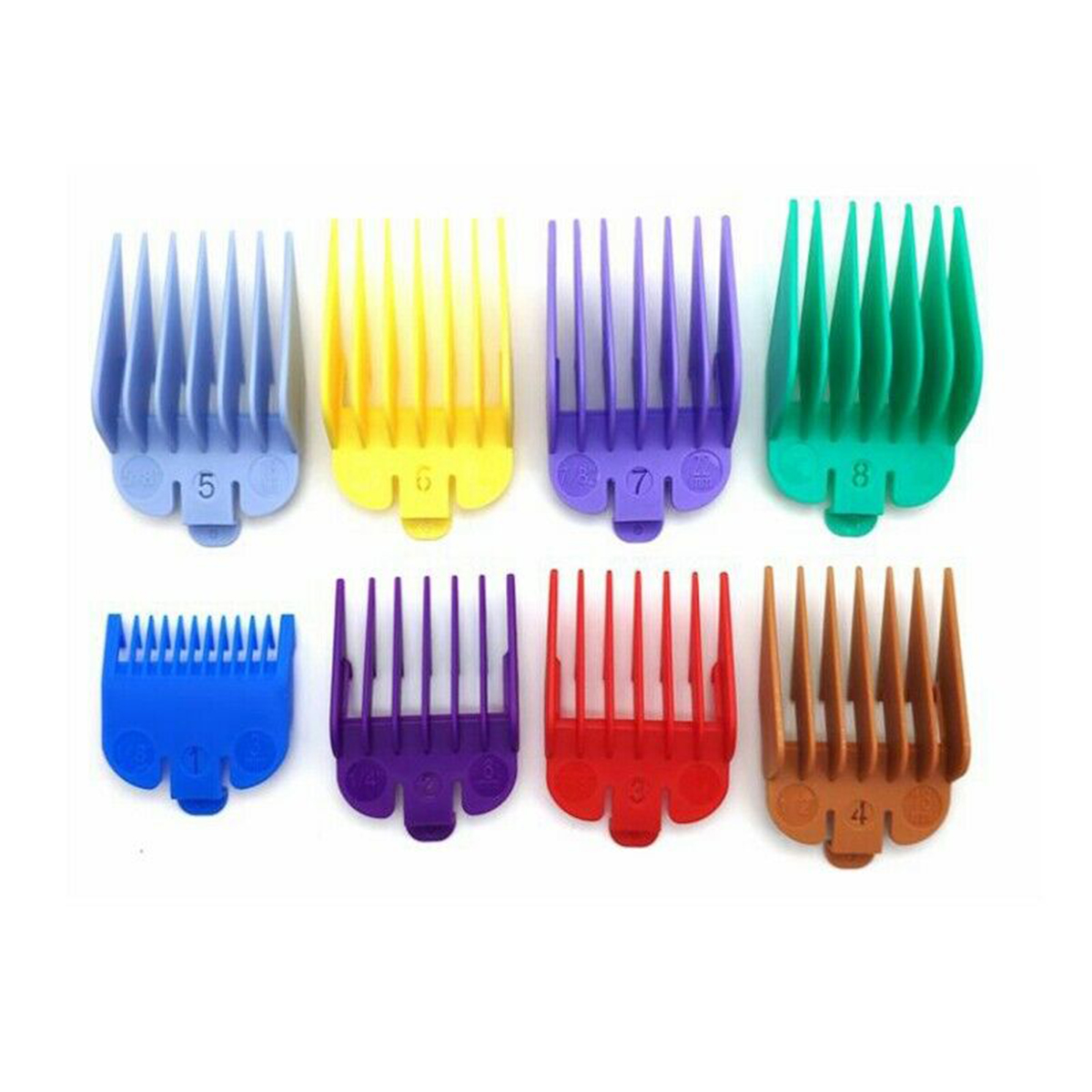 8pcs Cutting Guide Comb Set Limit Combs Attachment Haircut Accessories Hairdressing Tool For Electric Hair Trimmer Shaver