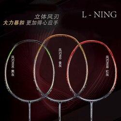 Raqueta de bádminton deportes de carbono raqueta de bádminton + cuerda + agarre N90, N99, 900