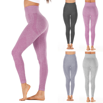 strong Import List strong Vital-Nowe bezszwowe legginsy damskie z wysokim stanem fitness bieganie spodnie do jogi seksowne push up sport na siłownie wąskie elastyczne 2020 tanie i dobre opinie CN (pochodzenie) Elastyczny pas NYLON spandex WOMEN Dobrze pasuje do rozmiaru wybierz swój normalny rozmiar Yoga Spodnie do kostek