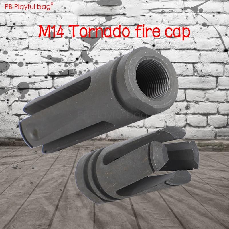 Playful Bag Tactical CS Water Bullet Toys Gun Upgrade Material Decorative Fire Cap Tornado M14 Reverse-Teeth/Normal-Teeth QD73
