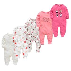 Image 3 - Kavkaz Roupa De Bebes Infantil Menina แขนยาวทารกแรกเกิดเด็กทารก Rompers ชุด 2 PC 3 PC 5pcs ทารกสาวเสื้อผ้าชุด