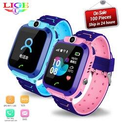 LIGE 2109 nowych dzieci smart watch LBS dziecko inteligentne zegarki zegarek dziecięcy dla dzieci SOS otrzymać telefon zwrotny od Lokalizator lokalizator Tracker anty stracił w Inteligentne zegarki od Elektronika użytkowa na