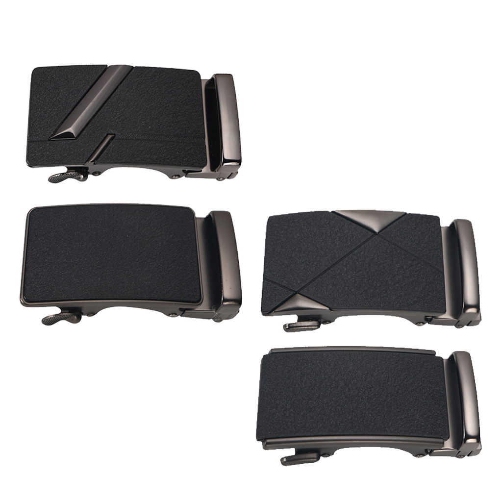 Men Solid Buckle Automatic Ratchet Leather Belt Buckle Leather Belt Replacement 8.5x4x2cm