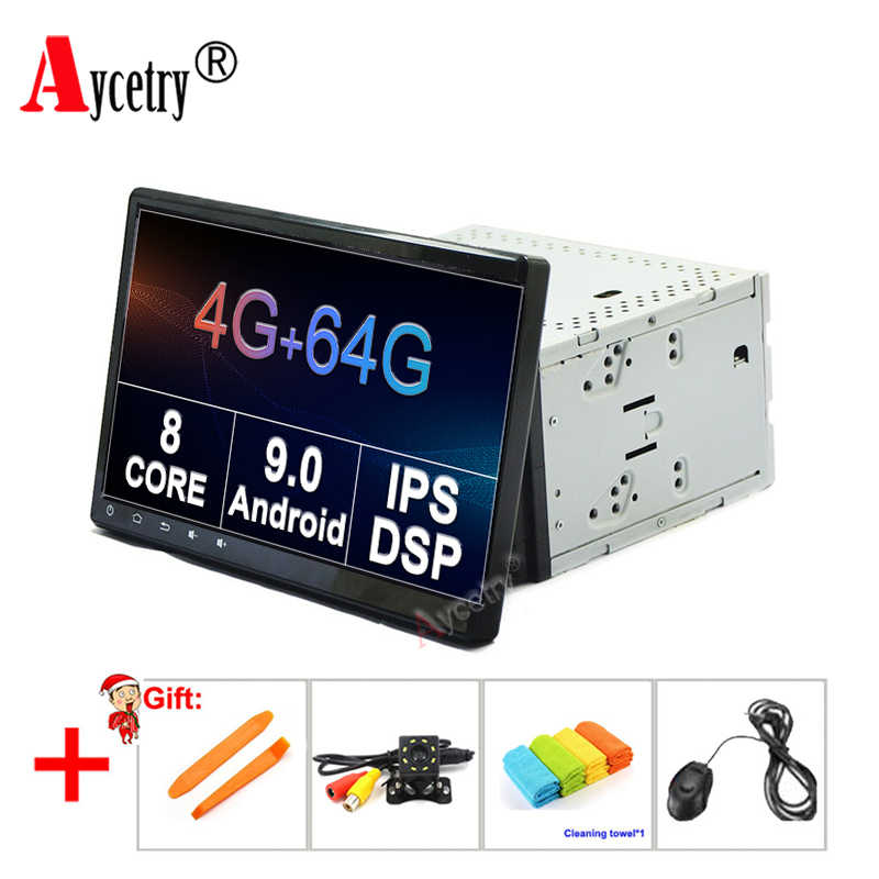 "4G + G 8 64 DSP NÚCLEO 10.1 ""IPS 2 Din Universal Android 9.0 car dvd player Multimedia GPS de rádio Para Volkswagen/VW/TOYOTA/NISSAN obd2"