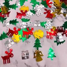 Снежинка Олень конфетти форма Блестки Рождественские ремесла вечерние романтический декор