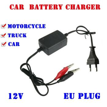12V EU Plug Standard Battery Charger Car Truck Motorcycle ATV Smart Compact Battery Charger Tender Maintainer Dropshipping image