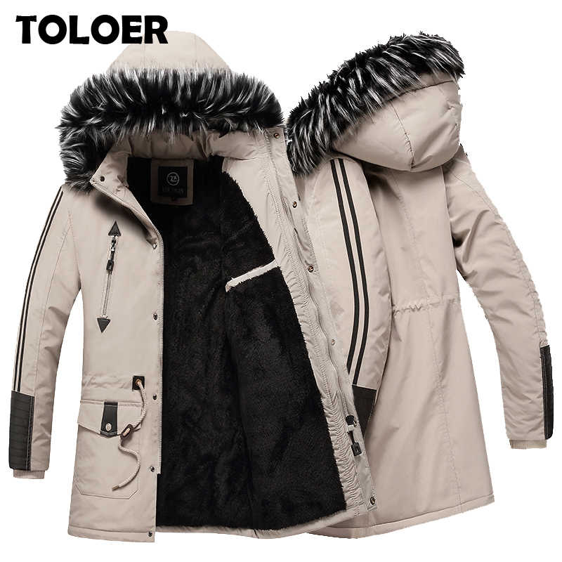 Winter Parkas Men New Thicken Warm Jacket Male High Quality Fleece Fashion Parka Coats Mens Casual Jackets Hooded Cotton Outwear