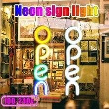 100-240V OPEN Neon Sign Light LED Wall Light Visual Artwork