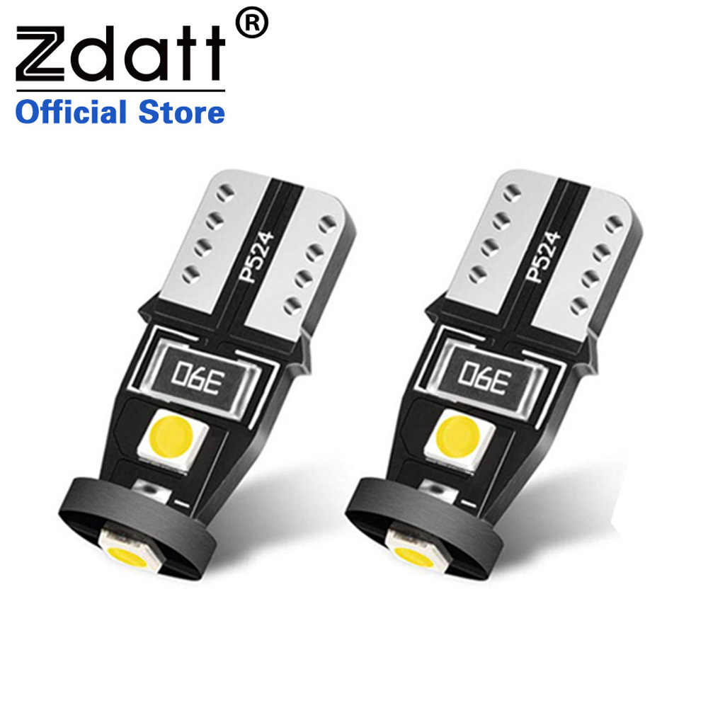 Zdatt T10 LED Signal Lamp Super Bright 6000K White LED CanBus No Error for Car Interior Dome  Door Courtesy License Plate Lights