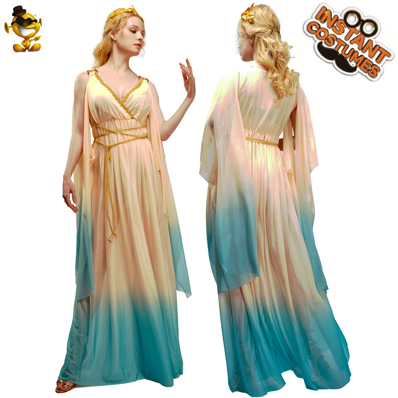 Greek Goddess Dress Costume Halloween Party Cosplay Adult Women Greek Princess Dress Christmas Costume