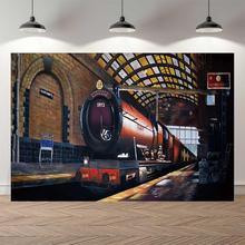 NeoBack Vinyl hogwart ekspresowy pociąg dziecko dzieci dzieci baner, możliwość personalizacji fotografii tła profesjonalne Studio tło do zdjęć