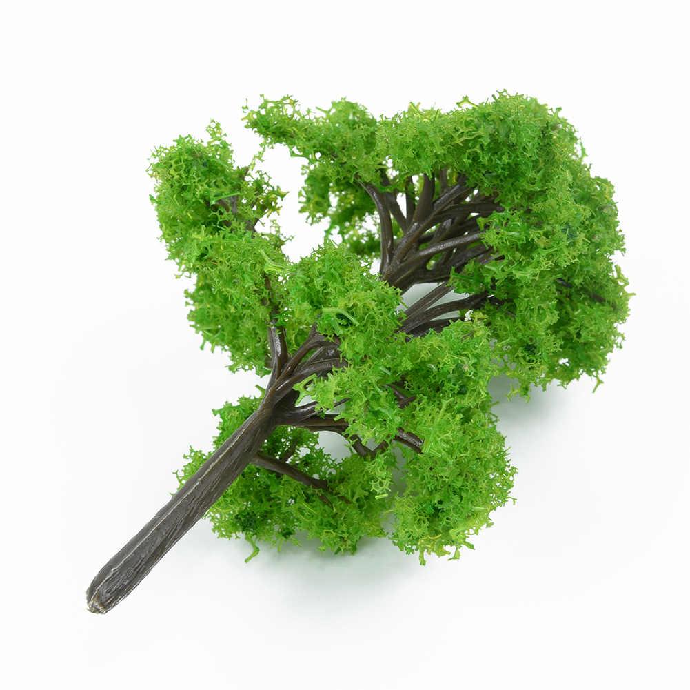 5/10/12/20/30/40/70 Uds. Modelo de árboles, tren Artificial, paisaje ferroviario, arquitectura para chico, árbol 1:100, juguetes de paisaje